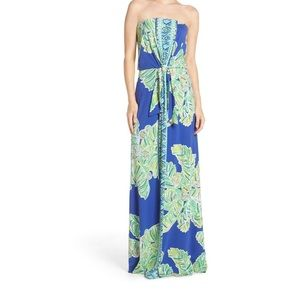 Lilly Pulitzer Rosalina Strapless Maxi Dress, Med